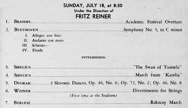 Fritz Reiner Cincinnati Symphony Orchestra Concerts