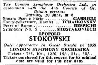 Leopold Stokowski Concerts 1950 1974